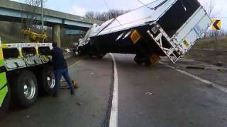 Tractor rollover Ferra's Automotive Pittsburgh Pa