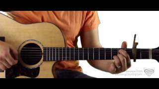 Blake Shelton Video - Honey Bee Blake Shelton Guitar Lesson and Tutorial