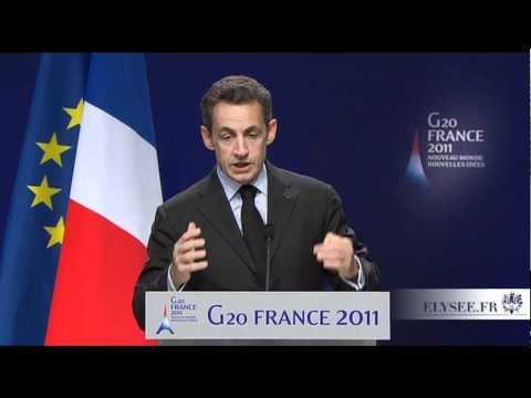 Conférence de presse de N. Sarkozy à l'issue du sommet de Cannes