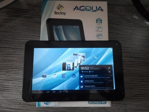 Tablet Tectoy Acqua - Unboxing e Primeiras Impressões