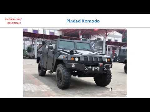 RG-33 vs Pindad Komodo, wheeled armoured vehicle 4×4 all specs