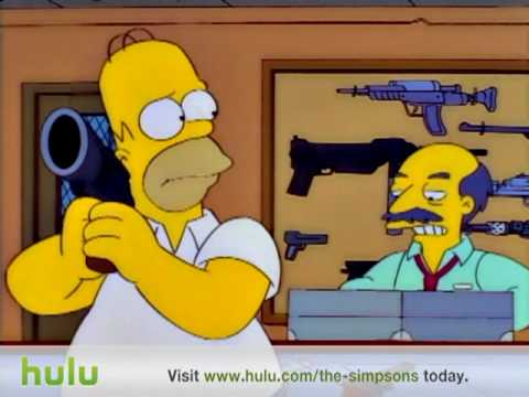 The Simpsons - Gun Shop video