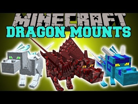 Minecraft: DRAGON MOUNTS (RIDE AETHER. GHOST. FIRE. ICE. WATER. & FOREST DRAGONS!) Mod Showcase