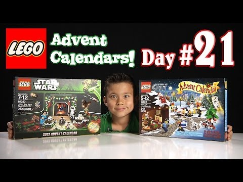LEGO CITY Advent Calendar & LEGO STAR WARS Advent Calendar DAY 21 - 2013 Set 60024 & 75023