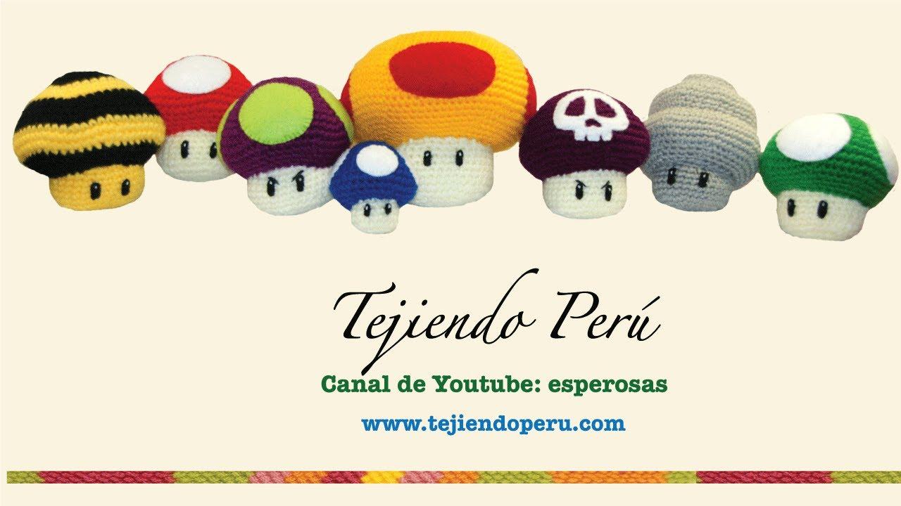 Amigurumi Hongo Mario Bros : Hongos de videojuegos tejidos en crochet (amigurumi) - YouTube