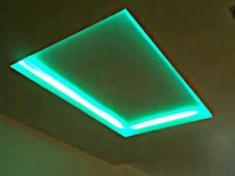 clairage led rgb plafond youtube. Black Bedroom Furniture Sets. Home Design Ideas