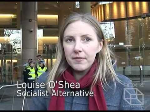 Rally Against Julian Assange Extradition to Sweden - Interview with Louise O'Shea