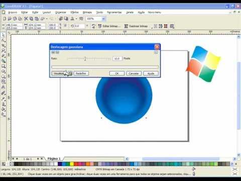 Video Aula  Corel Draw x3 - Logo do Windows Vista