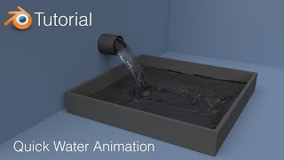 Blender Tutorial: Quick Water Animation