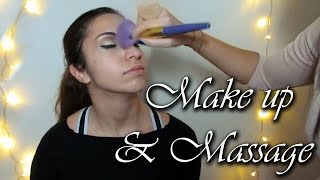 Make up artist with Alessia - Massage, Soft spoken, Relax -  ASMR