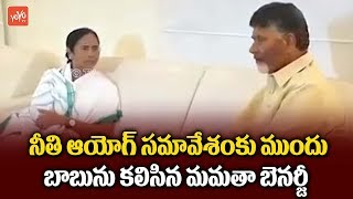 AP CM Chandrababu Naidu Meets Mamatha Banerjee at Niti Aayog Meet in Delhi