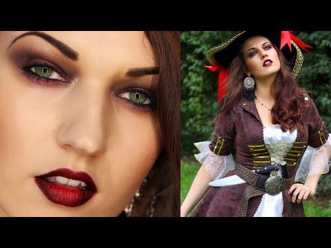 SEXY PIRATE Halloween Look Pirate Girl Costume Makeup
