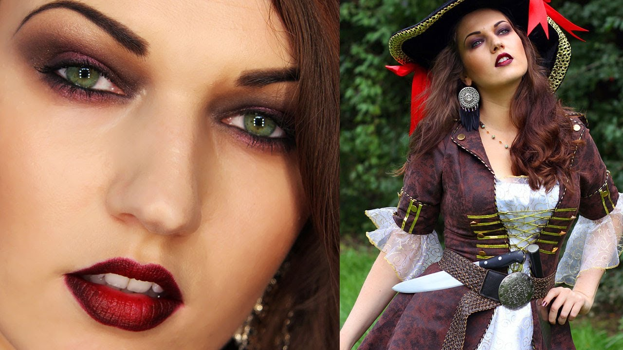 Sexy halloween pirate makeup