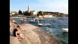 Beach near Franciscan monastery - City Hvar - island Hvar - Adriagate.com