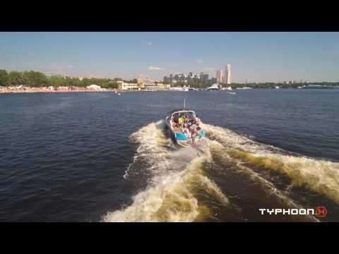 Yuneec TYPHOON H:  лучшие моменты соревнований European Wakesurf Tour Moscow 26.06.2016