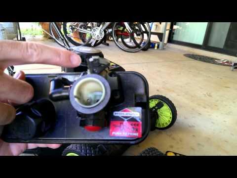 Briggs and Stratton lawnmower carburetor repair for surging engines Part 1