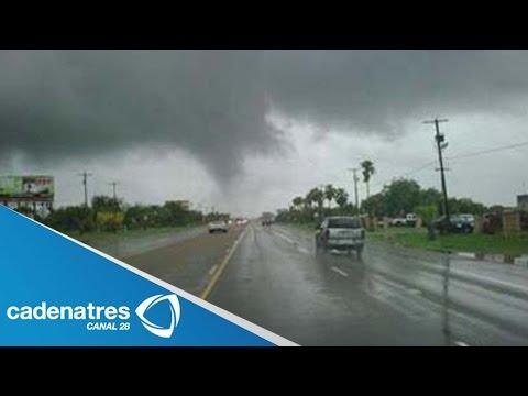 IMPRESIONANTES imágenes de tornado en Hidalgo / STUNNING images from tornado in Hidalgo