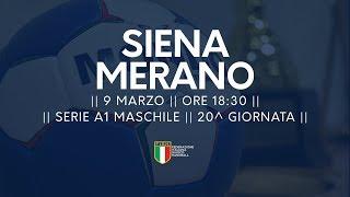 Serie A1M [20^]: Siena - Merano 26-24