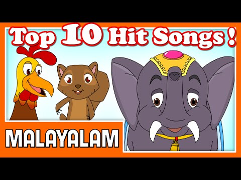 Top 10 Malayalam Cartoon Nursery Rhymes   21 Mins   2d Classic Animation   Compilation Songs In Hd video
