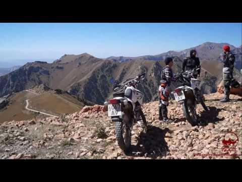 Riding motorbikes through Kyrgyzstan. Motorcycle tours in the mountain regions of Kyrgyzstan.