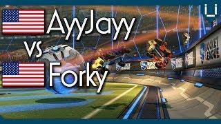7 Win Streak AyyJayy vs Forky (Rank 14) | Rocket League 1v1