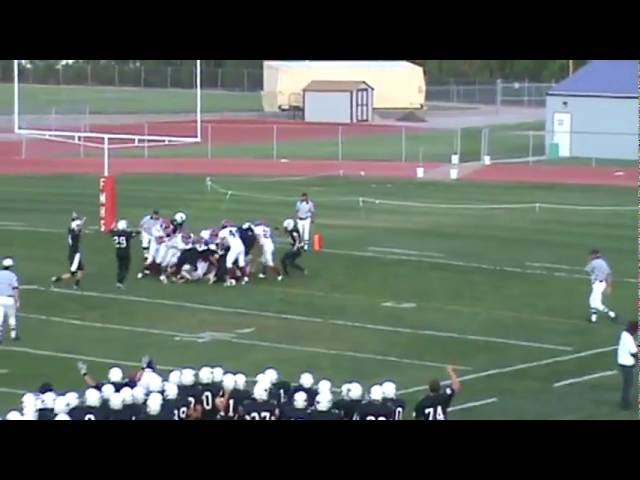 9-4-09 - Matt Godo scores on a 2 yard run (Fort Morgan 6, Brush 0)