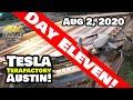 Tesla Gigafactory Austin 4K 8/2/20 - Tesla Terafactory Austin TX - Water Reclamation Process