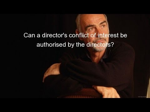 Can a director's conflict of interest be authorised by the directors?