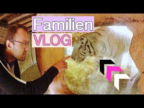 Alex streichelt einen Tiger | Tierparkbesuch & Familien Leben | Isabeau