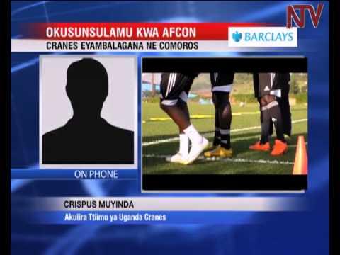 Ekikopo ky'Africa: Cranes eri bulindaala okuttunka ne Comoros