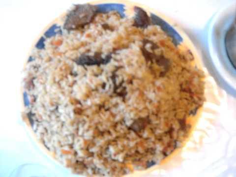Uzbekistan traditional food - osh palov