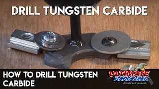 How to drill a hole through tungsten carbide