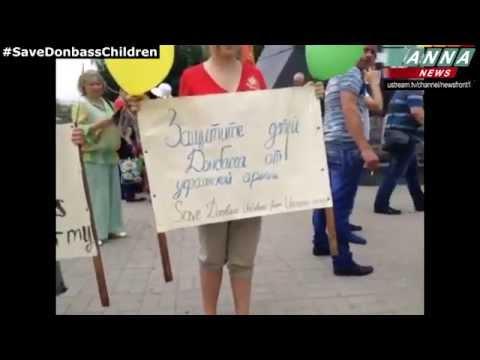 Donetsk. International Children's Day. 1 June 2014 (DPR)