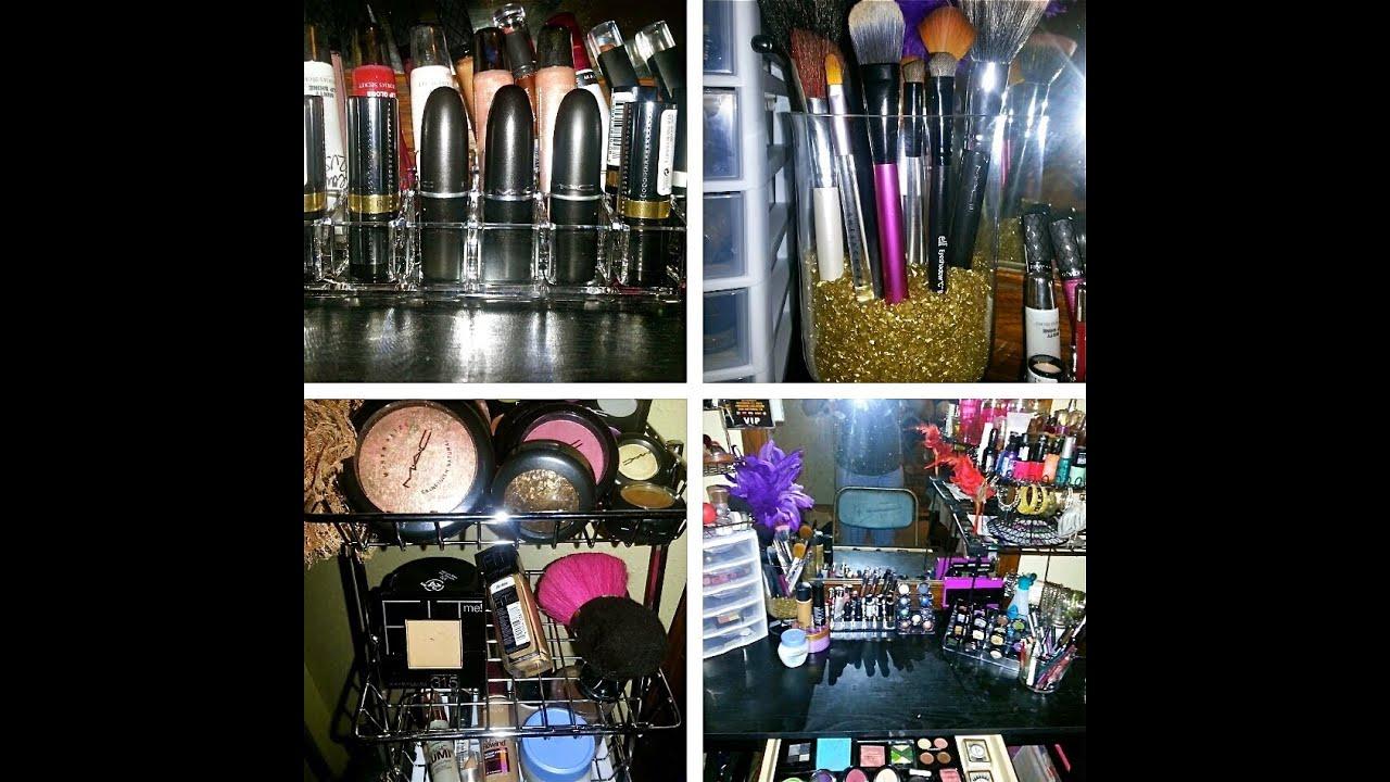 Makeup Vanity Cheap Storage Ideas   YouTube