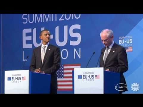 Obama, Van Rompuy, Barroso on EU-US Summit