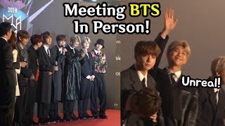 BTS on the red carpet @ MGA 2018!! (raw + unreal experience)
