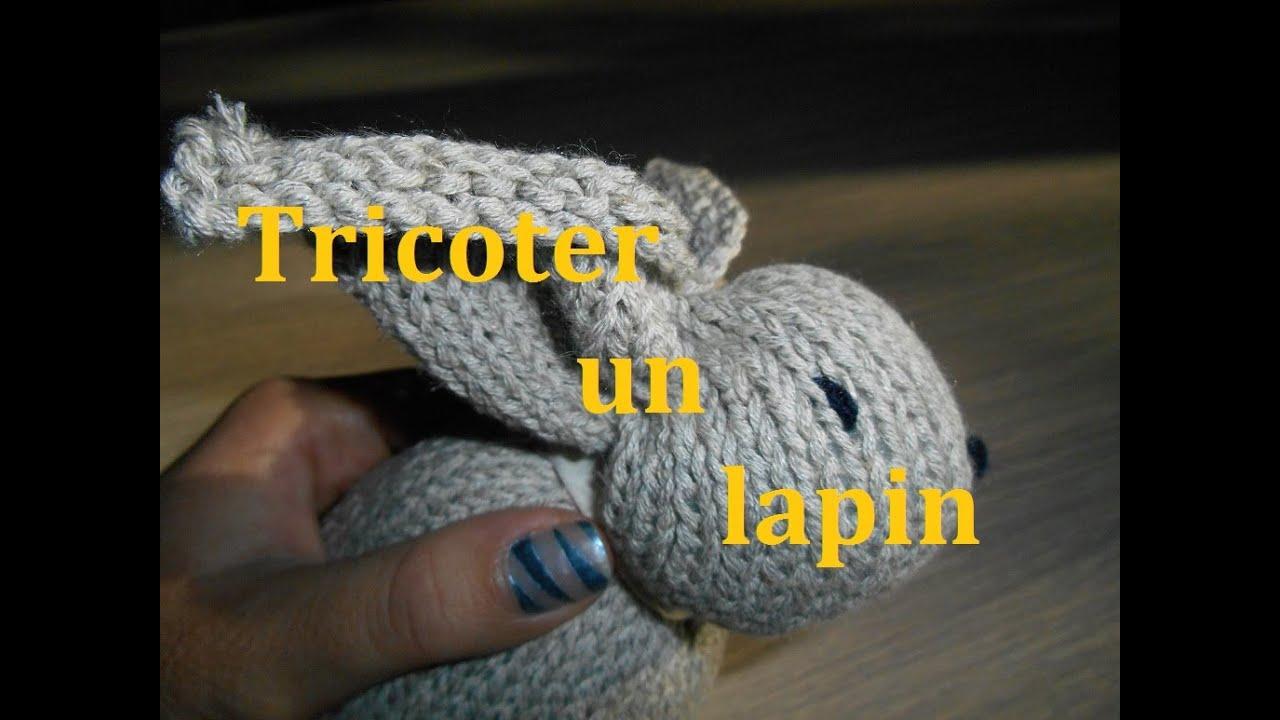 Tricoter un lapin - YouTube