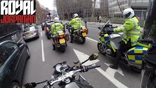 BMW S1000Rs accidental ride with 3 Police Riders