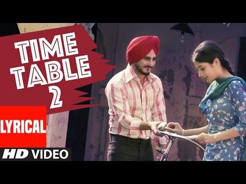 Kulwinder Billa Time Table 2 (ਟਾਈਮ ਟੇਬਲ 2) Full Lyric Video  Song | Latest Punjabi Song