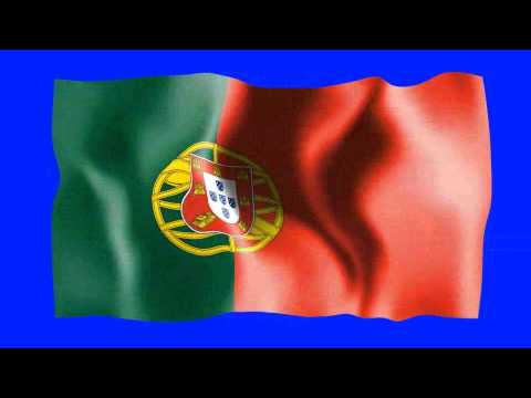 Portugal Waving Flag - Free HD Green Screen Animation