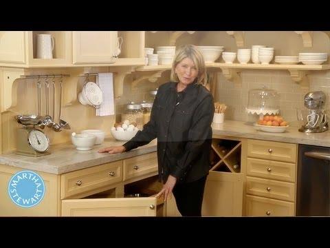 Ask martha innovative kitchen ideas martha stewart youtube for Martha stewart kitchen ideas
