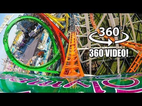 Olympia Looping VR 360 4K Roller Coaster POV Oktoberfest Germany