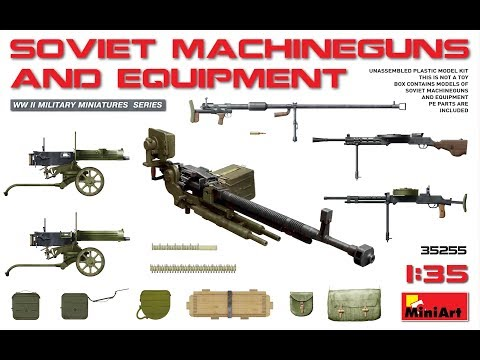 MiniArt #35255 - Soviet Machine guns and Equipment - Unboxing & Review