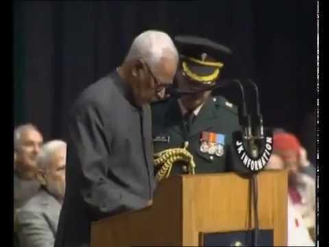 PM Shri Narendra Modi attends swearing in ceremony of J&K Govt.