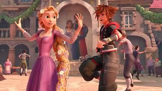 Kingdom Hearts 3 - Sora Dancing With Girls In Kingdom of Corona (Tangled World) KH3 2019