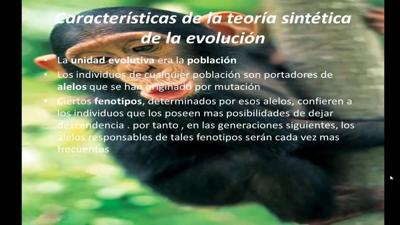 Teoria de la Evolucion Sintetica Teoría Sintetica de la