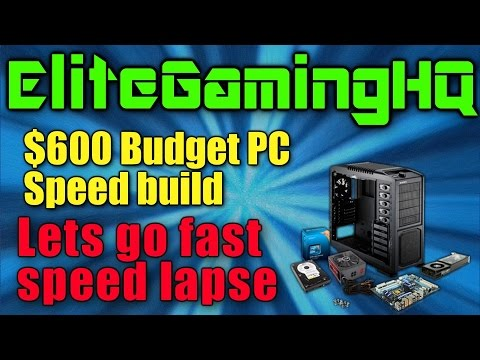 Gaming PC build $600 dollar speed build | building a computer to go up against AMD ryzen R5