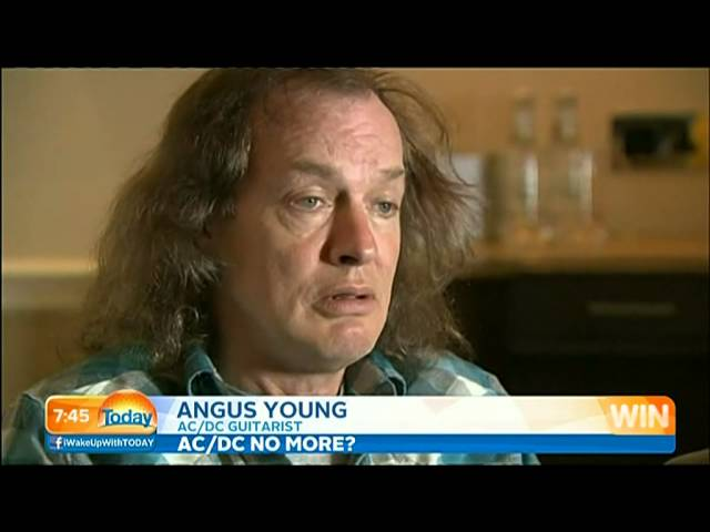 AC/DC Retirement Rumours (The Today Show Australia 16/4/14)