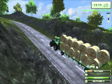 Farming Simulator 2013 - MoreRealistic mod - Bale transport
