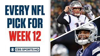 Brady Quinn and Pete Prisco make EVERY WEEK 12 NFL Pick | CBS Sports HQ